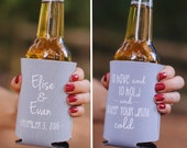 Personalized To Have and To Hold Wedding Can Coolers, Bridal Wedding Favors, Custom Beverage Insulators, Beer Huggers