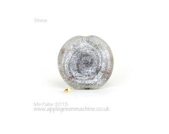 Lampwork glass focal bead 'Stone'