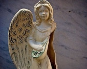 Broken Angel, Christmas Theme, Hark the herald angel sing, Damaged - 8x10 Color Fine Art Photographic Print