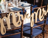 Chair Signs Mr Mrs Signs for Wedding Chairs for Bride and Groom - Hanging Signs Decor - 3 Piece Set (Item - MCK200)