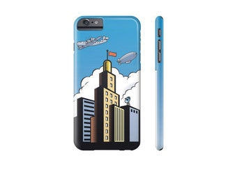 RETRO Phone Case, Blue Case for iPhone, Samsung Galaxy s7 Case, iPhone 7 Case, Samsung Phone Covers, Comic Book Art, Gift for Guys.