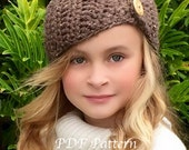 CROCHET PATTERN - Crochet Head Warmer - The Ava Head Warmer, Toddler, Child, and Adult sizes