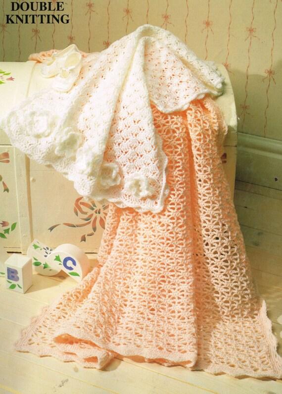 Vintage Crochet Patterns Baby Blankets : vintage crochet pattern lace royal baby afghan blanket bundle