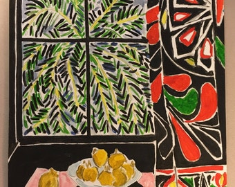 Interior with Egyptian Curtain after Matisse