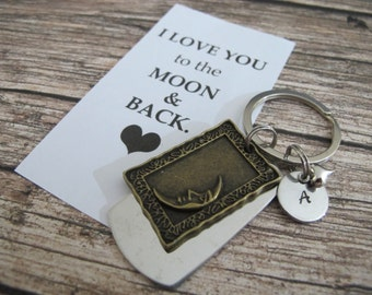 Valentines Day, Boyfriend or Girlfriend Gift, Gift For Him or Her, I Love You To The Moon And Back, Love Quote, Anniversary Gifts