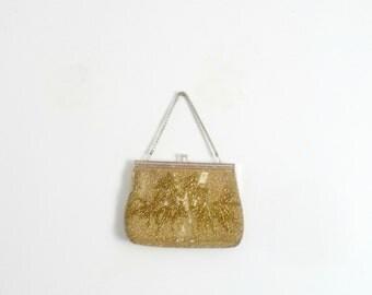 Gold Handbag / Evening Purse / Vintage 1990s