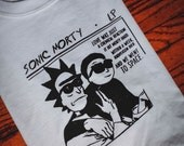 Sonic Youth Parody Rick & Morty Screenprinted T-Shirt