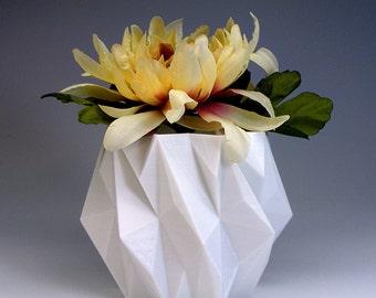 3d abstract art flower pot white 3d art pot