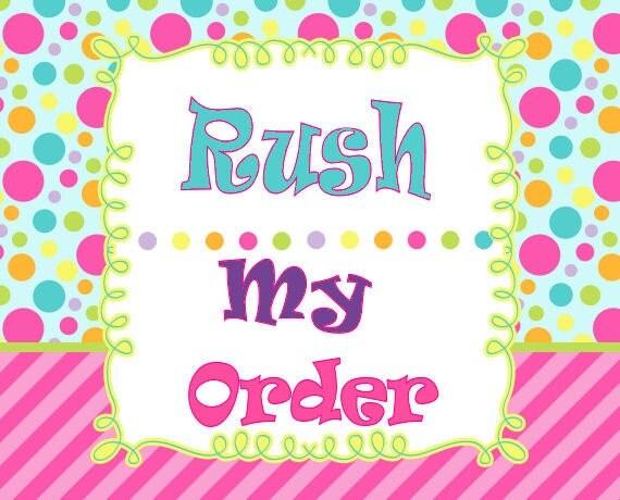 RUSH Fee ( or)  RUSH Fee + EXPRESS Shipping
