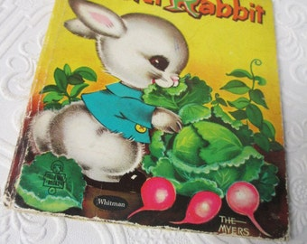 PETER RABBIT 1959 Vintage Childrens Book Bunny Bunnies 1950s Kids Book Illustrated