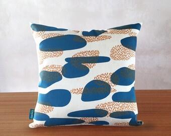 Screen printed cushion cover // Organic cushion cover // Abstract cushion // Organic cushion //