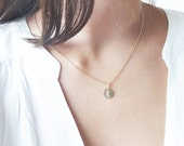 Crescent Moon - gold filled moon charm necklace, simple gold necklace