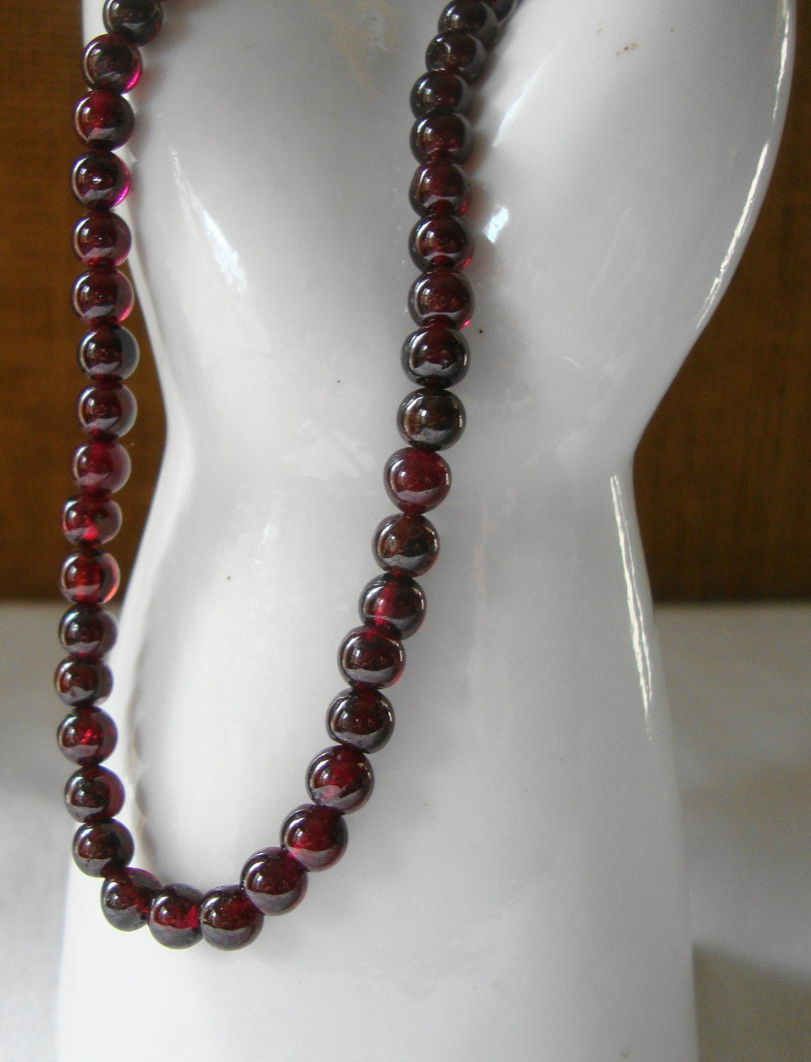 vintage garnet necklace garnet necklace