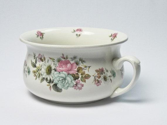 Antique english chamber pot by arthur wood ca early 1900s - Pot de chambre antique ...