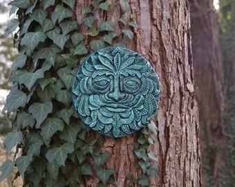 Winter Solstice Green Man Sculpture, Holiday Gift, Greenman Garden Gift,  Forest Tree Spirit