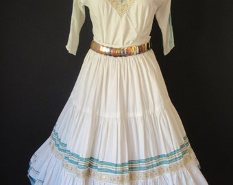 1960s White Vintage and Turquoise Jacome's Fiesta/Squaw Set