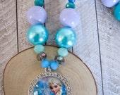Elsa necklace, Frozen birthday party, Elsa pendant, Disney princess