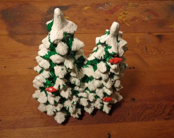 Items Similar To Handpainted Ceramic Lighted Christmas