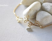 A Little Birdie Under The Tree Bracelet in Matte Silver/ Silver. Bird Bracelet. Cute and Sweet. Nature. Gift For Her (PBL-09)