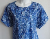 2X & 3X -- Post Surgery FLANNEL Nightgown- Shoulder, Breast Cancer, Heart / Hospice / Special Needs / Adaptive Clothing Sleepwear-Style Erin