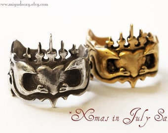 "15% off and free standard shipping for July Miyu Decay ""Amor et Fidelitas"" Brass Ring"