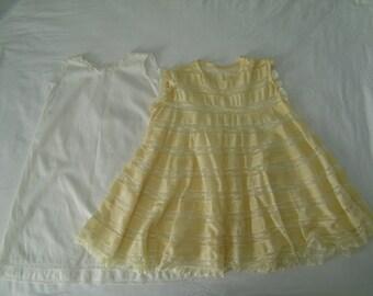 2 pc. Vintage Baby Dress Set, 12-18 Months or 2T