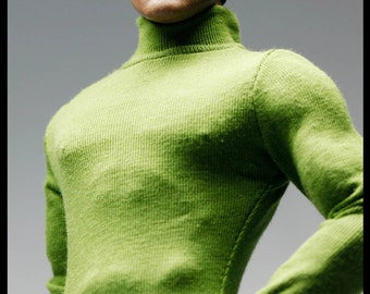 mc0348 Olive Green Zipper Body Suit for 1/6 Action Figure