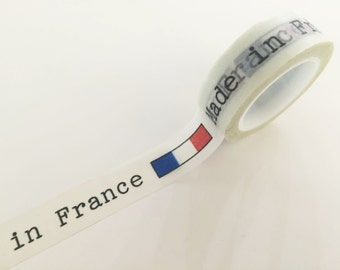 Made In France - Washi tape - 15 mm Wide - 10 meters  WT782