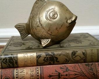 Sea Coastal Decor, Brass Fish, Nautical Lake House, Gold Fish