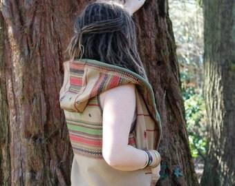 Tribal Vagabond Waistcoat, Body Warmer, Hooded Gilet