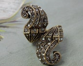 Heidi Daus IRRESISTIBLY YOURS Art Deco Ring  Size 7    NDE7
