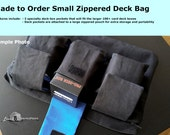 Made to Order Small Specialty Deck Pocket Zippered Bag for Magic the Gathering or other TCG Decks and Accessories