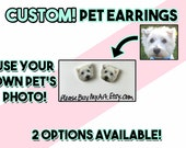 PERSONALIZED / CUSTOM Pet Photo Stud Earrings ( 25% to Goats of Anarchy )
