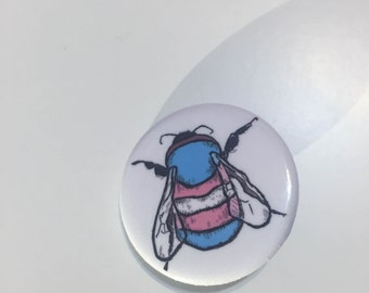 Transgender Bee Button