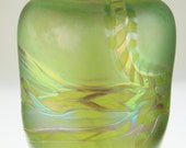 Art Glass Vase Hand Blown by Eric W. Hansen with Iridescent Luster