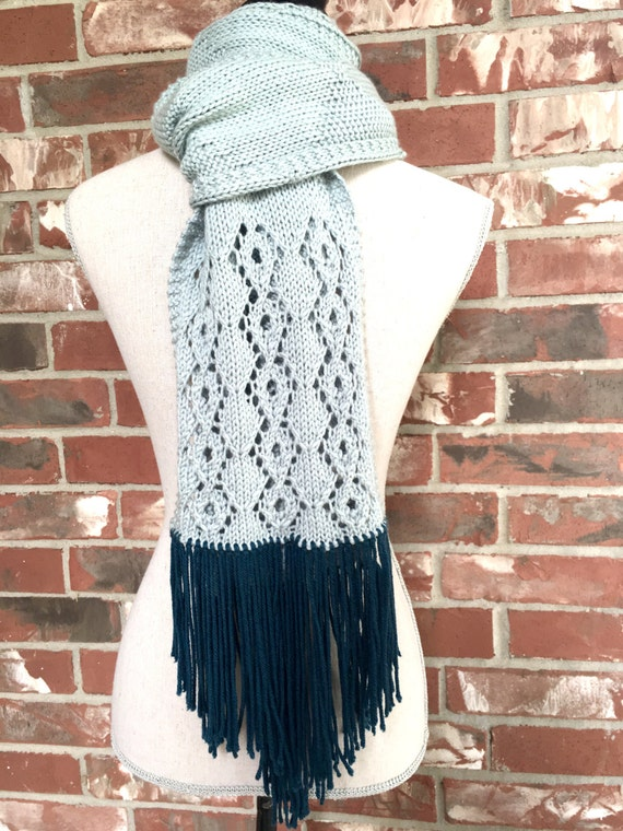 PATTERN Diamonds and Lace Scarf Knitting Pattern DIY Christmas