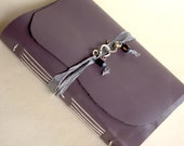 Lilac Leather Journal, Lilac Journal for Her, Leather Journal