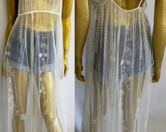 Sheer embroidered VS GOWN