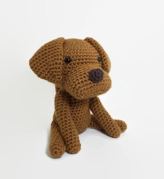 Amigurumi Stuffed Animals : Large Vizsla Crochet Dog Amigurumi Stuffed Animal Plush Toy
