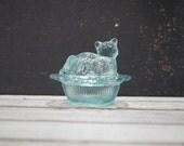 Cat on Nest Salt Dish