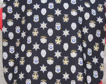 Police, Law Enforcement Badges Adult Bib XL