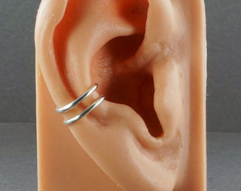 Ear Cuff - Sterling Silver Double Band