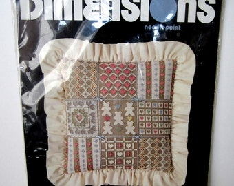 Dimensions Needlepoint COUNTRY HEARTS PATCHWORK Kit #2295