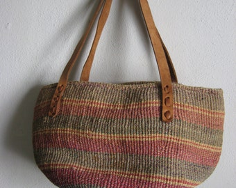 Large Sisal Jute Market Bag Purse Beach Bag Tote