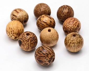 10 Coconut Beads 15mm x 13mm Natural Coconut Ideal for Nature Inspired Designs Assorted - BD279