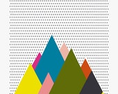 Mountains . A3 Print / Last pieces!