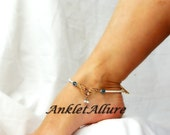 Butterfly Anklet Beach Anklet Gold Butterfly Body Jewerly Gold Ankle Bracelet Crystal Foot Jewerlry