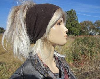 Yoga Turban Headband Hairband Cotton Knit  Hair Wrap Brown 7 Colors A1149