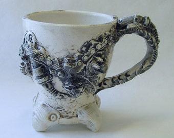 BioIndustrial Baroque Mug with Chainsaw Chain