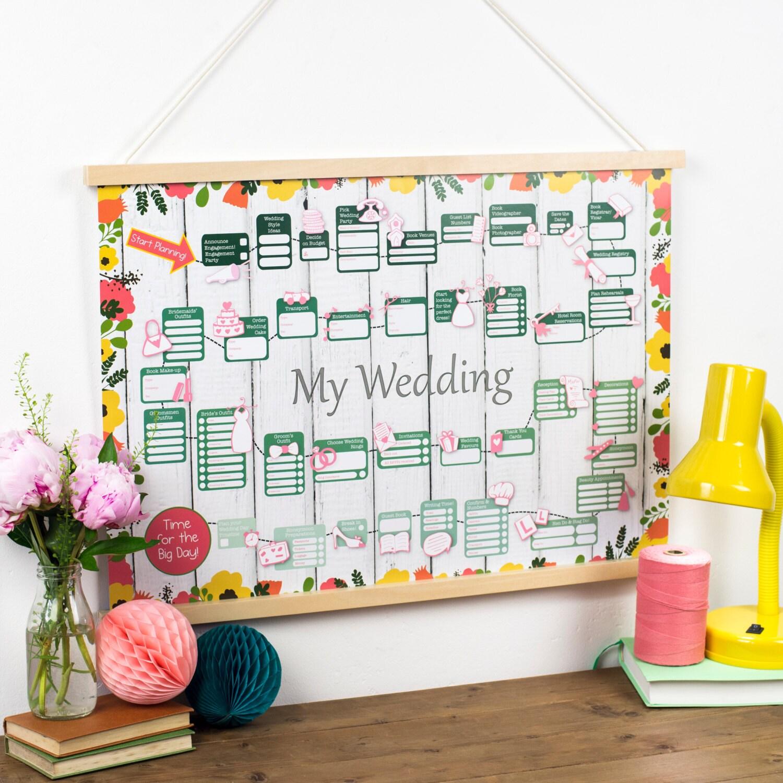 Wedding Countdown Checklist: Wedding Planner Calendar Wedding Countdown Calendar